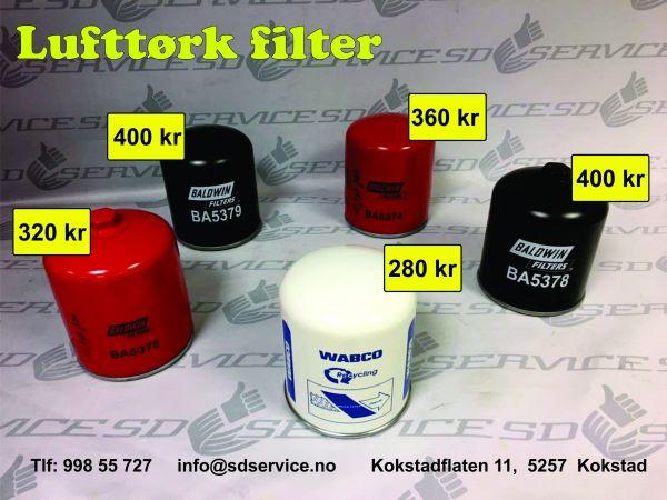lufttørk filter
